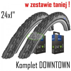 "Komplet DOWNTOWN 24x1"" czarne"